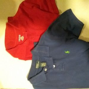 2 polo shirts sz Medium boys